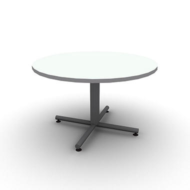 "SNAP!Office 48"" Round Table - Frosty White"