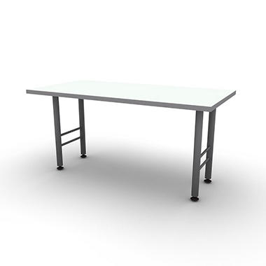"SNAP!Office 30"" x 60"" Linear Table - Frosty White"