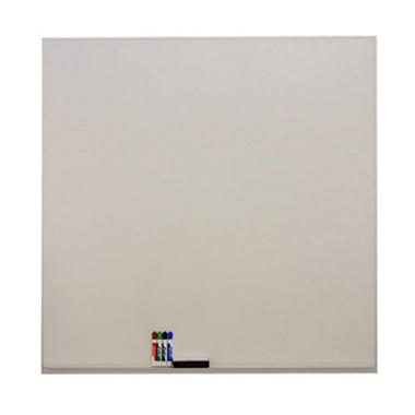 "SNAP!Office 48"" x 48"" Wall-Mounted Porcelain Whiteboard"