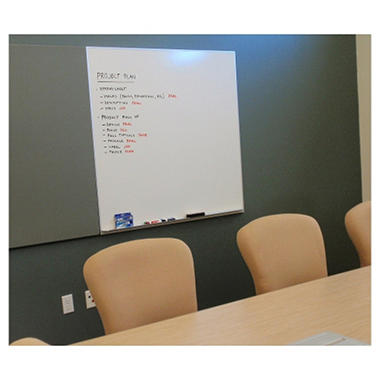 "SNAP!Office 48"" x 48"" Wall-Mounted Laminate Whiteboard - 48"" x 48"""