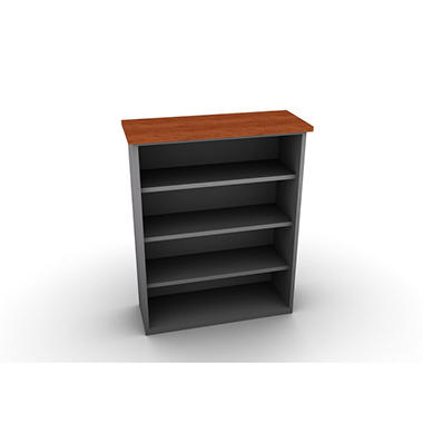 SNAP!Office - Bookcase - Aluminum Gray & Blossom Cherrywood Top