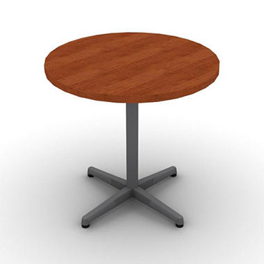 SNAP!Office - Round Table - Aluminum Gray & Blossom Cherrywood Top