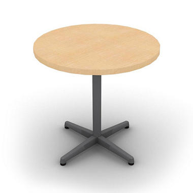 snap office round table aluminum gray amber maple top