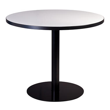 SNAP!office - Round Write Table with Disc Base - White - 36