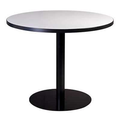 SNAP!office - Round Write Table with Disc Base - White - 48""