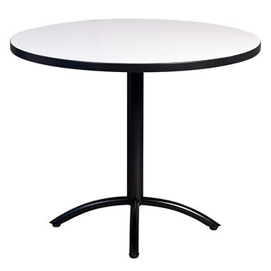 SNAP!office - Round Write Table with X-Base - White - 48