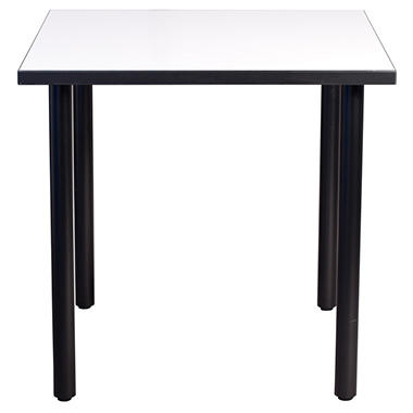 SNAP!office - Square Write Table with Post Legs - White - 48""