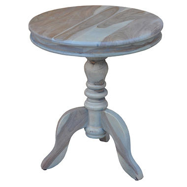 Round Accent Table, Grey