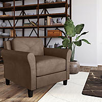 Harris Teardrop-Arm Chair, Brown