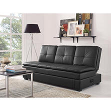 Serta Axis Convertible Storage Sofa with USB Ports