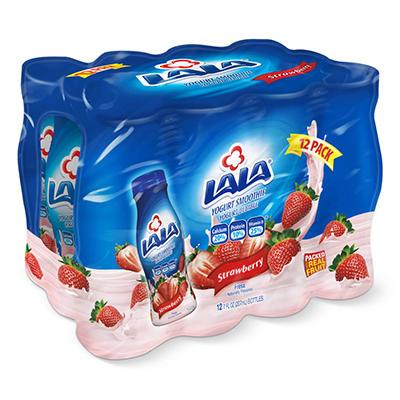 LALA Strawberry Yogurt Smoothies - 7 oz. - 12 pk.