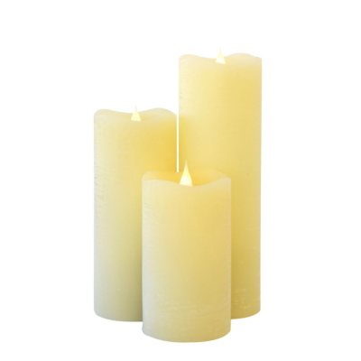 Set of 3 Simplux 3D Flame LED Candles - (Assorted Colors)