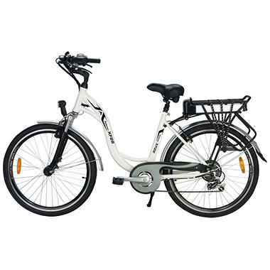 Yukon Trail Xplorer XF26 Step-Thru 7-Speed Lithium Powered Electric Bike - White