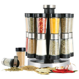 Orii Gourmet Revolving Spice Rack (10 jars, 20 spices)