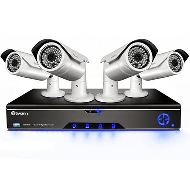 Swann 4 Channel 1080p Full HD Security System with 2TB Hard Drive, 4 1080p Cameras and 260' Low Light Vision