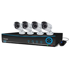 Swann 4 Channel 960H Security System with 500GB Hard Drive, 4 700TVL Pro-642 Cameras, and 82' Night Vision