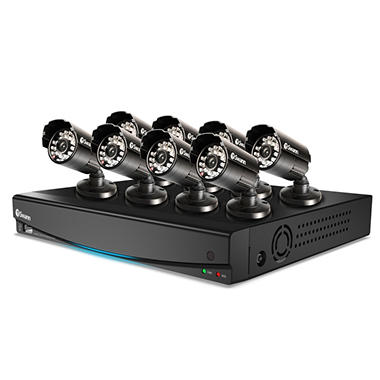 Swann 8 Channel Full D1 Security System with 1TB Hard Drive, 8 600TVL Cameras, and 65' Night Vision
