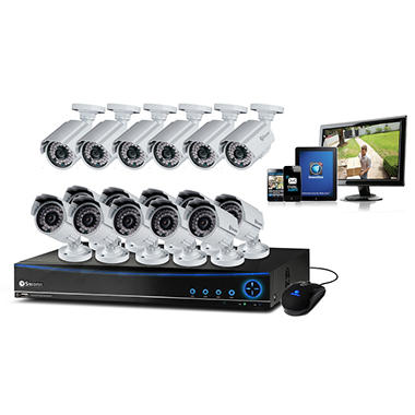 Swann 16 Channel Security System with 16 700TVL Cameras, 1TB Hard Drive, and up to 82' Night Vision