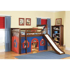 Mission Playhouse Tent Twin Loft Bed, Cherry