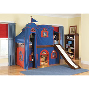 Mission Playhouse Tent Twin Loft Bed with Tower, Cherry