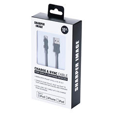 Sharper Image - 10 Ft Lightning Cable - Assorted