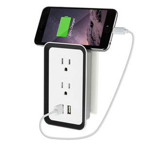 Sharper Image Plate Power USB Wall Plate Charger - 2 pack