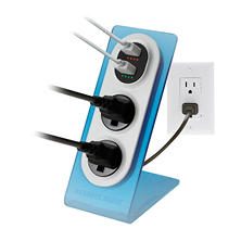 Sharper Image Visual Charge Dual USB Charger/Outlet - 2pk