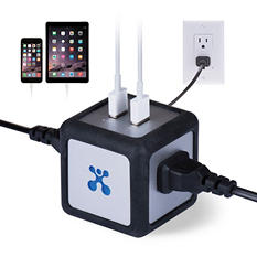 Atomi Power Cube Dual USB Charger / Outlet - 2PK