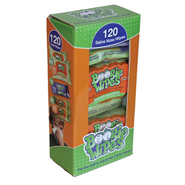 Boogie Wipes Saline Nose Wipes - Multi Pack - 120 ct.