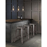 Elias Counter-Height Stool, Gunmetal (Set of 2)