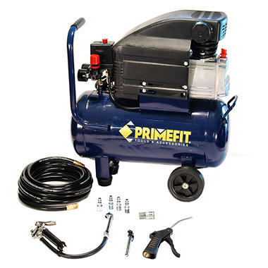 Primefit 6 Gallon Air Compressor with 5 Piece Accessory Kit