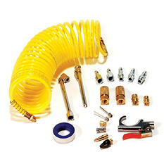 Primefit IK1016S-20 20-Piece Air Accessory Kit with 25-Foot Recoil Air Hose