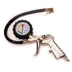 Primefit Tire Inflator with Gauge, Pistol Grip and Clip on Chuck (Save 10% Now)