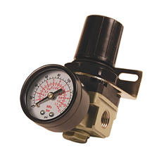 Primefit R1401G Mini Air Regulator with Gauge, 1/4-Inch NPT