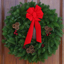 "Worcester Wreath Co. 30"" Classic Wreath"
