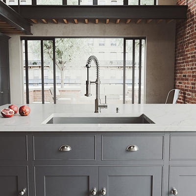 VIGO Undermount Stainless Steel Kitchen Sink, Faucet, Grid, Strainer & Dispenser