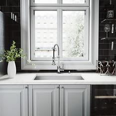 """VIGO 30"""" Undermount Stainless Steel Kitchen Sink, Grid and Strainer"""