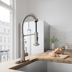 VIGO Pull-Out Spray Kitchen Faucet with Deck Plate