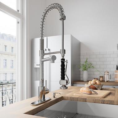 VIGO Chrome Pull-Down Spray Kitchen Faucet  VG02007CHK1