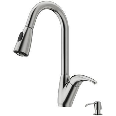 VIGO Stainless Steel Pull-Down Spray Kitchen  VG02017STK2