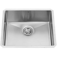 "VIGO 23"" Undermount Stainless Steel 16 Gauge Stainless Steel Single Kitchen sink"