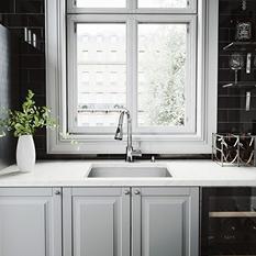 VIGO All in One 23in VIGO Undermount Stainless Steel Kitchen Sink and Chrome Faucet Set