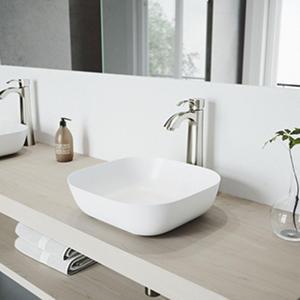 VIGO Otis Bathroom Vessel Faucet in Brushed Nickel