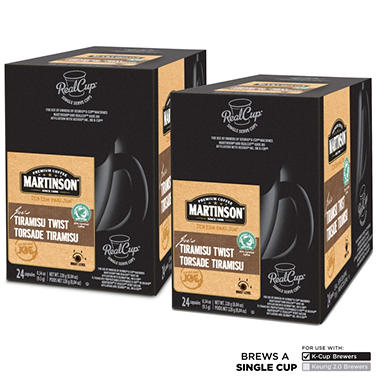 Martinson Tiramisu Twist Coffee RealCups, Single Serve (48 ct.)