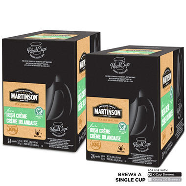 Martinson Irish Crème RealCups, Single Serve (48 ct.)