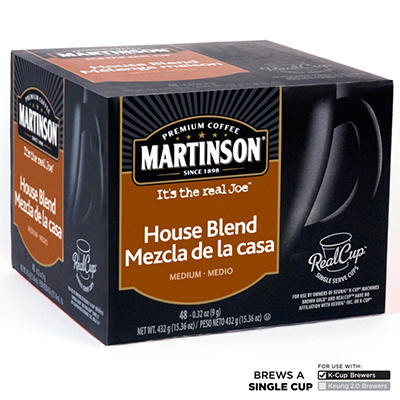 Martinson House Blend Coffee RealCups, Single Serve (48 ct.)