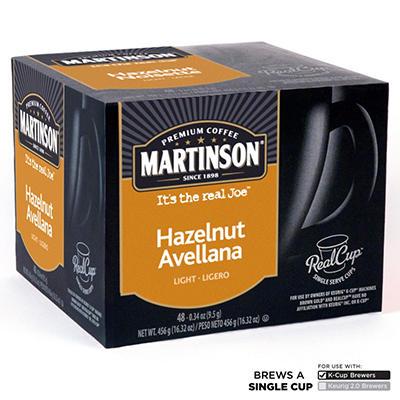 Martinson Joe's Hazelnut Crème Coffee RealCups, Single Serve (48 ct.)