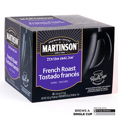 Martinson French Roast Coffee RealCups, Single Serve (48 ct.)