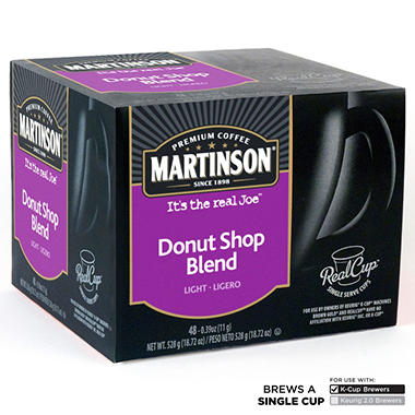 Martinson Donut Shop Coffee RealCups, Single Serve (48 ct.)