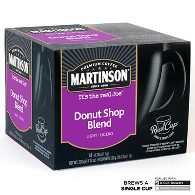 Martinson Donut Shop Coffee RealCups, Single Serve (48 ct.)